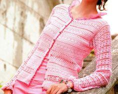 Crochet jacket exquisite design PATTERN only by FavoritePATTERNs, $5.75
