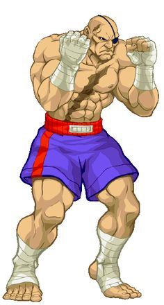 Sagat the street fighter character inspired by #kick-boxing