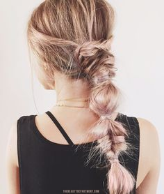 Messy fishtail/bubble braid combination situation ☺️