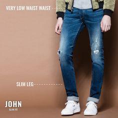 John - Slim Fit   #tiffosi #tiffosidenim #newin #fit #fitguide #denim #denimguide #denimcollection #jeans