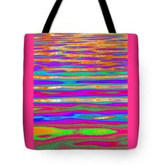 """Ripples and Reflection Six Tote Bag 18"""" x 18"""""""