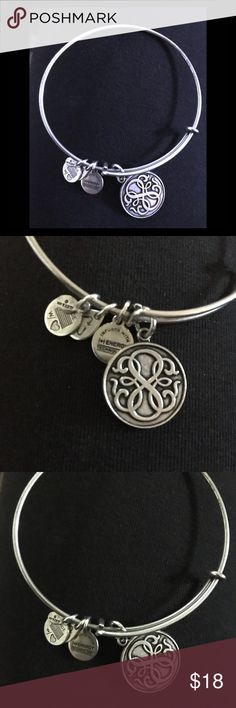 Alex and Ani path of life silver bracelet Very good condition! Silver Alex and ani path is life bracelet Alex And Ani Jewelry Bracelets