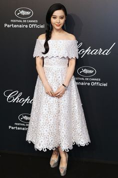 Fan Bingbing in Ralph & Russo Spring 2015 Couture at Chopard Gold Party in Cannes on May 18, 2015