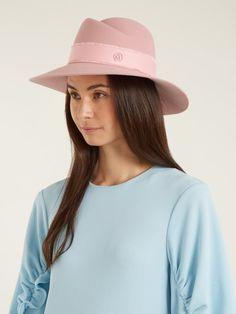 f4832484880 Baby Pink  Pastel MAISON MICHEL Virginie showerproof fur-felt hat.  girl