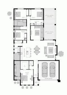 Basic Kitchen Area Concepts For Inside or Outside Kitchen areas – Outdoor Kitchen Designs Dream House Plans, House Floor Plans, Mcdonald Jones Homes, Outdoor Cooking Area, Basic Kitchen, Storey Homes, Outdoor Kitchen Design, Backyard Kitchen, Family Room Design