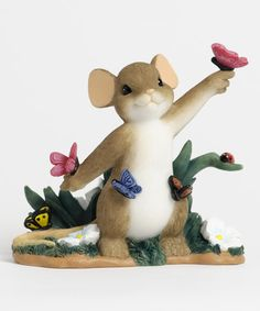 Outdoor Mouse Figurine #zulily #zulilyfinds