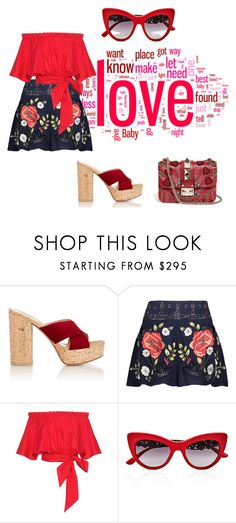 """""""Stuff we love"""" by sofiacalo ❤ liked on Polyvore featuring Gianvito Rossi, Haute Hippie, Saloni, Dolce&Gabbana and Valentino"""