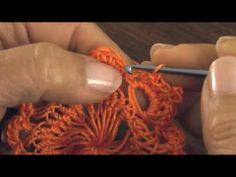 Horquilla (hairpin lace): motivo circular 5