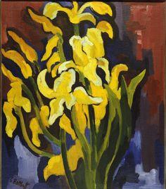 Karl Schmidt-Rottluff (German, 1884 - 1976)  Irises (Schwertlilien), 1925Oil on canvas, 90 x 76,5 cmBrücke-Museum, Berlin, Germany