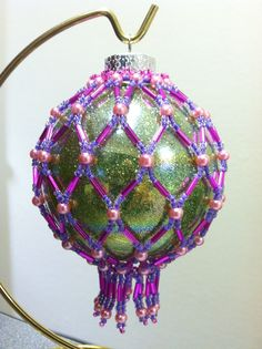Beaded ornament cover -2013