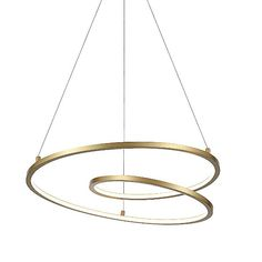Kuzco Lighting Twist LED Pendant Light Size: Large in White Dining Room Light Fixtures, Kitchen Pendant Lighting, Led Pendant Lights, Kitchen Pendants, Pendant Lamp, Garage Lighting, Home Lighting, Modern Lighting, Lighting Ideas