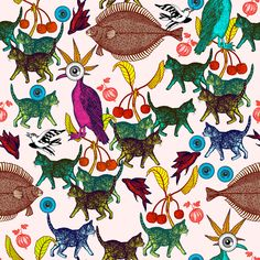 Cat - Michaël Cailloux #cats #cat #chat #illustration #illustrationart #papierpeint #wallpaper #drawing #dessin