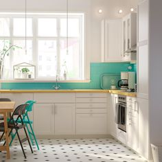 Add a pop of colour to a white kitchen with bright accessories. Featured Products • LAXARBY • LAXARBY • FRODE