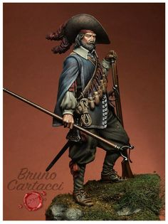 Tercio's Arquebusier - Rocroi 1643 - Virtual Museum of Historical Miniatures Outfits For Spain, Scottish Warrior, Thirty Years' War, Early Modern Period, Classical Antiquity, Late Middle Ages, Military Modelling, Knight Armor, Fantasy Paintings
