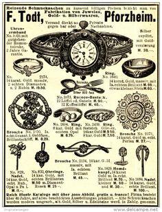 Original-Werbung/ Anzeige 1898 - SCHMUCK / UHREN- ARMBAND / - TODT - PFORZHEIM…