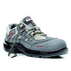 c876ce19ed995a Elten S1 Schuhe atmungsaktiv  Arbeitsschuhe  Nubukleder  Meshmaterial   Kunststoffkappe  metallfrei  Einlegesohle  federleicht  grau  gelb