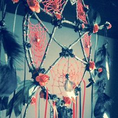 black dreamcatcher pagan wiccan pentagram by Monikagifts on Etsy