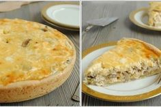 Lorinsky pie with chicken and mushrooms / Culinary Universe Pizza Recipes, Dessert Recipes, Musaka, Russian Desserts, Good Food, Yummy Food, Delicious Recipes, Savory Tart, Savoury Pies