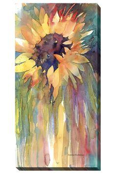 Floral/Still life - sunflower by annelein beukenkamp watercolors sunflower art, watercolor sunflower, Art Aquarelle, Watercolor Sunflower, Watercolour Painting, Watercolor Flowers, Painting & Drawing, Watercolors, Sunflower Canvas, Sun Painting, Tattoo Watercolor