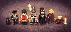 Steampunk Lego, Lego Minifigs, Lego Military, Cool Lego, Legos, Cyberpunk, Geek Stuff, Characters, Random