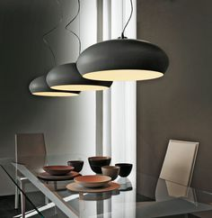 This large bowl suspension light comes in a choice of chrom, graphite or white with a white varnished interior.  This product requires 1x E27 23W energy saving bulb (NOT INCLUDED).  The dimensions are for the 'lampshade' as the 'cord' length can be adjusted.