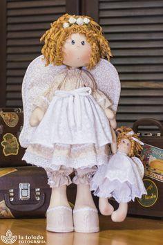 Angel e seu anjinho (kit completo) - Casinha de Bonecas