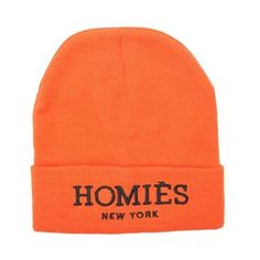 Homies Beanie ❤ liked on Polyvore featuring accessories, hats, beanie caps, embroidered beanie hats, beanie cap hat, embroidery hats and american hats