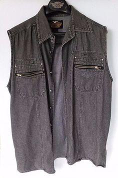 Vintage Harley-Davidson Sleeveless Denim Jacket/Vest XL HD