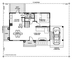 Antonio Model is a four bedroom modern home plan with roof deck having a total floor area of 188 sq. roof deck not included. The roof deck is 65 Modern House Floor Plans, Modern Bungalow House, Kitchen Floor Plans, Best House Plans, House Design Pictures, Small House Design, Modern House Design, Online Architecture, Architecture Magazines