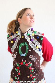 Gingerbread Vest...ginger fugly at its fugliest  ugh