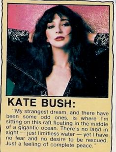 Kate Bush The ninth wave is born ? Bush Quotes, Hounds Of Love, John Taylor, Weird Dreams, Words To Describe, Post Punk, Her Music, Record Producer, Comedians