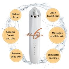 Acne Spot Treatment *** Blackhead Remover Bauttf Electric Blackhead Vacuum Suction Remover Acne Comedone Extractor Tool Set Skin Facial Pore Cleaner Comedo Microdermabrasion Exfoliating Machine >>> See this terrific product. (This is an affiliate link). Blackhead Vacuum, Blackhead Remover, Extractor Tool, Pimples Overnight, Acne Spot Treatment, How To Get Rid Of Pimples, Clean Pores, Dead Skin