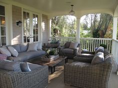 Suzie: Jane Green - Figless Manor - Super deck/patio space with outdoor furniture, gray lilac ...