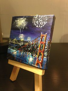 4th of July at San Francisco Painting by by marinelaArts on Etsy