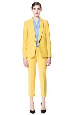 Image 1 of WING-COLLARED BLAZER from Zara    I want both pieces