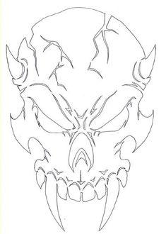 Ultima-Air  - Demon Skull 1 Airbrush Stencil, $11.99 (http://www.ultima-airbrush.com/demon-skull-1-airbrush-stencil/)