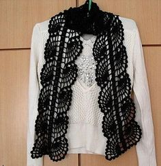 crochet scarf - with diagram