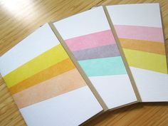 "Loving these letterpress printed striped cards from Etsy seller ""studioslomo"""