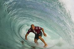 Kelly Slater of the U. rides a barrel during Round 1 of the Oi Rio Pro surfing event as part of the World Surf League in Barra De Tijuca, Rio de Janeiro, Brazil Daniel Smorigo / World Surf League via EPA Kelly Slater, Nepal, World Surf League, Surf News, Pro Surfers, Image Of The Day, Sports Photos, Ocean Waves, Brazil