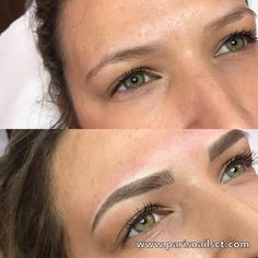 Eyeliner Tattoo: All You Need To Know – My hair and beauty Mircoblading Eyebrows, Eyebrows Goals, Permanent Makeup Eyebrows, Natural Eyebrows, Eyebrow Makeup, Skin Makeup, Beauty Skin, Hair Beauty, Beauty Style