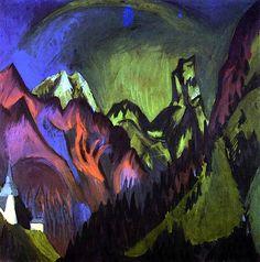 Tinzenhorn, Zügenschlucht bei Monstein Ernst Ludwig Kirchner - 1919-1920