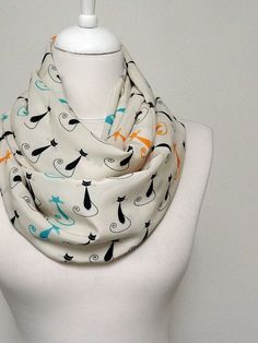 Hey, I found this really awesome Etsy listing at https://www.etsy.com/listing/120670133/cat-pattern-infinity-scarf-circle-scarf