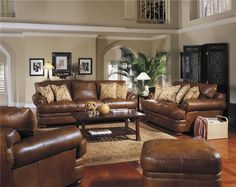 Leather sofa. Beautiful TOP GRAIN Leather ALL OVER Montezuma Collection.  Over Sized in Length & Depth.  Over 50 Leathers to choose from.  Also comes as a sectional.  http://imageevent.com/landawholesale/designerfurnitureforsale