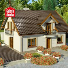 New House Plans, Dream House Plans, Small House Plans, My Dream Home, Village House Design, Village Houses, House Outside Design, Small Country Homes, Prefabricated Houses