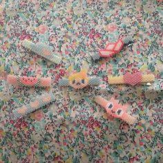 """좋아요 27개, 댓글 4개 - Instagram의 Lulu & The Little Pea(@lulu_and_the_little_pea)님: """"Petite collection de barrette ... #motifluluandthelittlepea #lulu #love #cat #perlezmoidamour…"""""""