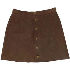 Brown Suede Skirt AMERICAN APPAREL (125 CAD) ❤ liked on Polyvore featuring skirts, bottoms, american apparel, brown skirt, brown knee length skirt, suede skirt and suede leather skirt