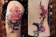 As tatuagens em aquarela de Chen Jie | Just Lia