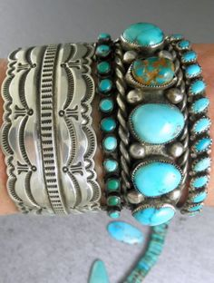 Beautiful turquoise and silver...☮♥♓