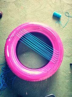 pneu colorido