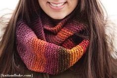 Super Easy Beginner's Knitting Cowl / Endless Scarf Pattern, using Garter Stitch   Knit and Bake